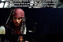 Pirates of the Caribbean / I love the movie Pirates of the Caribbean and my favourite movie character is Jack Sparrow. Here is some Jack Sparrow for yah, savvy?