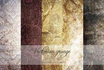Vintage wallpaper and fabrics