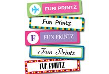 Labels / Fun-Printz...... for names to be seen!!