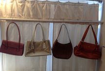 Purse storage / Hang purses on spring rod or shower rod in a closet over your clothes,using metal s -shaped opened shower hooks / by Sandra Henderson