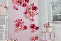 Fleurs an der Wand