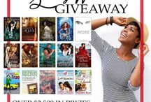 Giveaways / Info about current book/author giveaways.