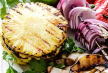 Grilled pineapple pear salsa