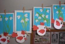 Jaro v družině / nástěnky, výzdoba a výtvory v mém oddělení