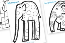 elmer patterns colouring sheets
