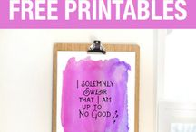 Harry Potter watercolour quote printables