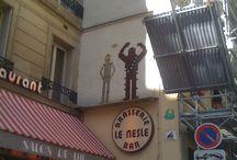 Les dessins sur les murs de Paris / Les artistes de rues décorent la capitale Française.