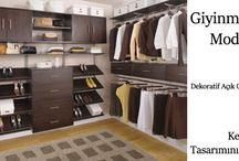 Açık Giyinme Odası Modelleri