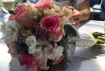 Bridal bouquets.
