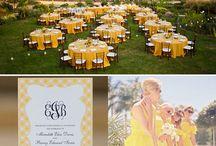 Yellow's / Beautiful sunny yellow bridal palette - inspiration board