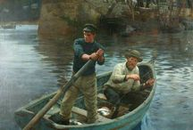 Art ref : fishing/boats etc / Fishermen in boat