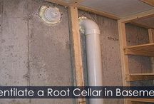 Root Cellar in Basement Building Steps / How to build a root cellar in your basement. Step by step building instructions and design ideas. Food preservation and storage idea. Canning storage idea.