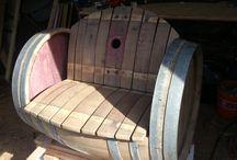 Wine Barrel Furniture / handmade barrel furniture.  Möbel aus Weinfässern. Wir fertigen auch für Sie.  Exklusiv und nach ihren Wünschen.