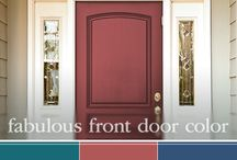 Fabulous Front Door Paint Colors / Shut the front door! Adding curb appeal to your home is as easy as painting your front door. Discover our favorite paint colors for your front door such as Caribbean Holiday, Indian Paintbrush, and Hacienda Talavera all part of PPG Voice of Color. / by PPG Voice of Color