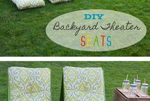 outdoor movie seating