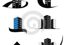 CONSTRUCTION, REAL ESTATE, BUILDINGS LOGOS, SYMBOLS AND ICON DESIGNS
