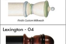 Finials / Drapery hardware is near and dear to us, so we love scouring markets, shows and media for the best examples.