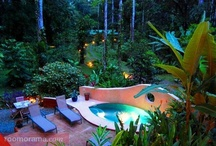 Barefoot Luxury / It's Time to relax  Leave your watch behind  Call time your own...  It's time for Geckoes.  Geckoes Lodge has two luxurious, fully equipped holiday houses with private plunge pools, in a magnificent secluded rainforest setting, only minutes from spectacular beaches and fine restaurants.  At Geckoes your Barefoot Luxury is gorgeous accommodation combined with the wonders of the rainforest and the Caribbean coast... so you can get 'up close and personal' with nature...in comfort!