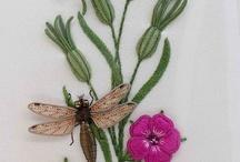 Объемная вышивка насекомых