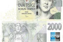 Billets République tchèque / La couronne tchèque est la monnaie nationale de la République tchèque depuis 1993. Les billets de banque République tchèque en circulation sont : 100, 200, 500, 1000, 2000 et 5000 CZK.
