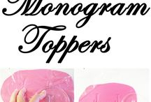 Monogram toppers