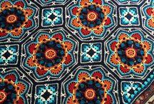 Granny Squares and Hexagones- Crochet