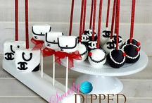 Chanel Cake Pops / Chanel Themed Cake Pops and Rice Krispy Treats