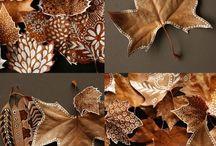 Decoración con hojas secas