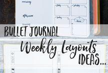 Bullet Journal Weeklies ideas