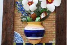 Mosaicos quadros decorativos