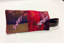 Hand Painted Silk Glasses  Cases