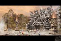 Artworks by Dante Ferretti / To create unique scenic designs we involved the multiple-Oscar-winning production designer Dante Ferretti. Here's a collection of his original artworks that inspired the park's sets.