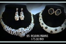 Fabulous and Unique Jewelry by Patricia Be / This is a new line of fabulous jewelry we are now carrying at Patricia's Big Closet.  If you love wearing unique jewelry with lots of bling, you will love these pieces as they are simply stunning.  The prices for these sets range from $45.00 - $75.00 and many have matching earring and/or bracelets.  Available at: www.patriciasbigcloset.com / by Patricia's Big Closet