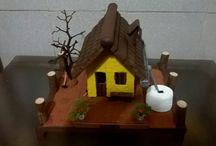 Artesanatos de Assis Andrade / Artesanatos em miniatura feitos em madeira.
