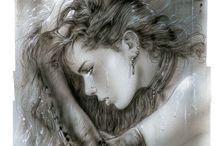 Luis Royo / #illustrateur #héroic #fantasy #draw #femme #dessinées