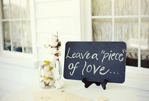 Say it with a Sign / Fun or unique uses for signs and chalkboards for weddings and parties.