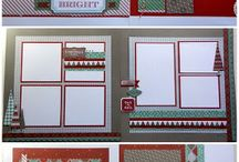 Winter Themed Scrapbooking Pages