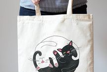 *Cat Themed Stuff for Humans* / Cat themed items either shaped like a cat or has cat illustrations. If it can hold stuff and it has cat, it probably belongs in here =^.^=