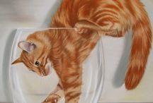 kat tekeningen / katten