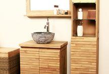 Idée meuble salle de bain Teck