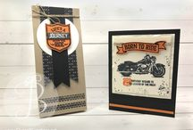 Motorcycle Lovers Cards, Gifts & Decor Ideas / Motorcycle Lovers Cards, Gifts & Decor Ideas by Lisa Ann Bernard of Queen B Creations, Independent Stampin' Up! demonstrator