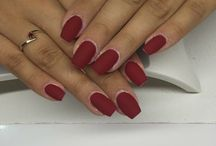 #nails#matte#red