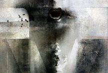 Digital and mixed media, abstract art.