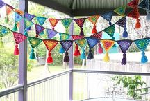 Crafty - Crochet (garlands) / Bunting & garlands. / by Elizabeth Crowe