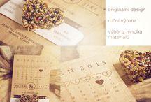 WEDDING CARDS / svatební tiskoviny, dekorace