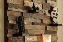 estanteria con sobrante de madera