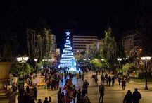 Christmas, A Festive walk in Athens / Athens, Greece