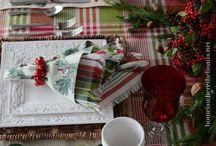 Le Tavole delle Feste / Christmas tables / Tante ispirazioni per voi per apparecchiare le tavole di Natale e Capodanno/  Tables setting holiday inspirations