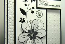 Cards... Black & White (and maybe a little pop of colour) / Black & white....always classy!