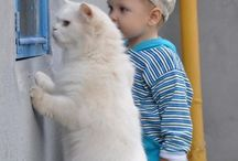 kids and pet